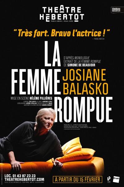 La Femme Rompue, avec Josiane Balasko
