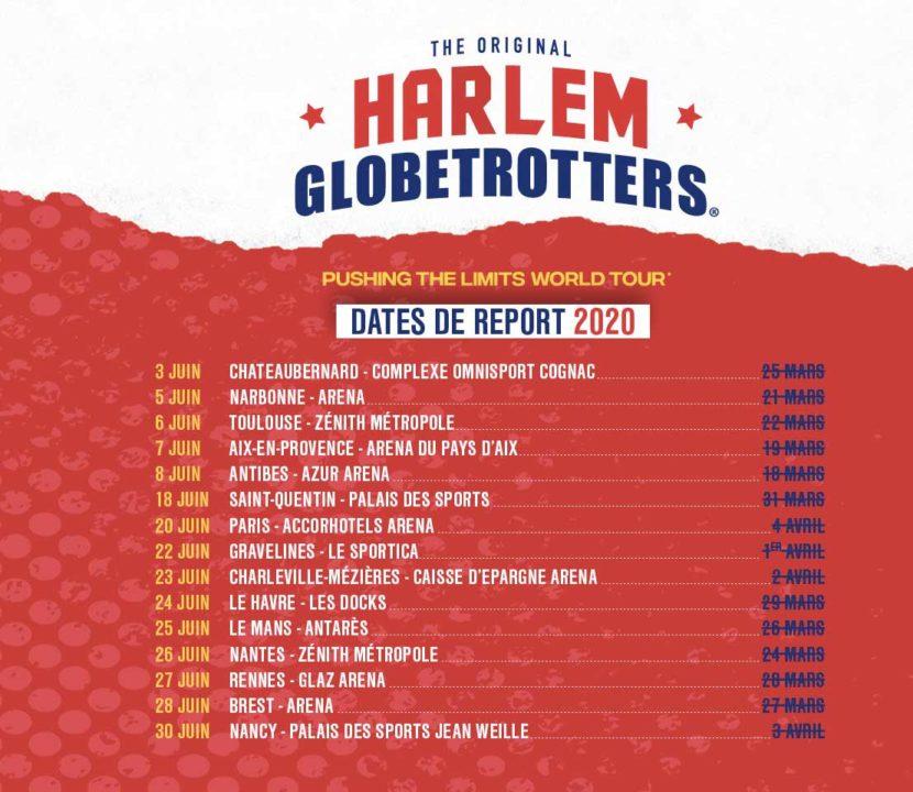 Harlem Globetrotters - tournée 2020