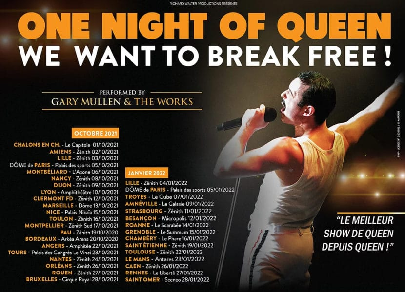 One Night of Queen, tournée 2021